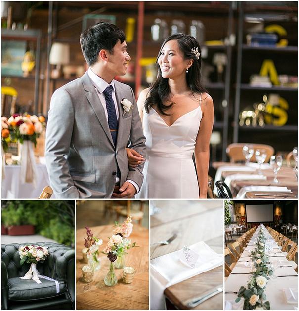 Classy Rustic Wedding at Modern Boho Industrial Warehouse, Smog Shoppe Los Angeles