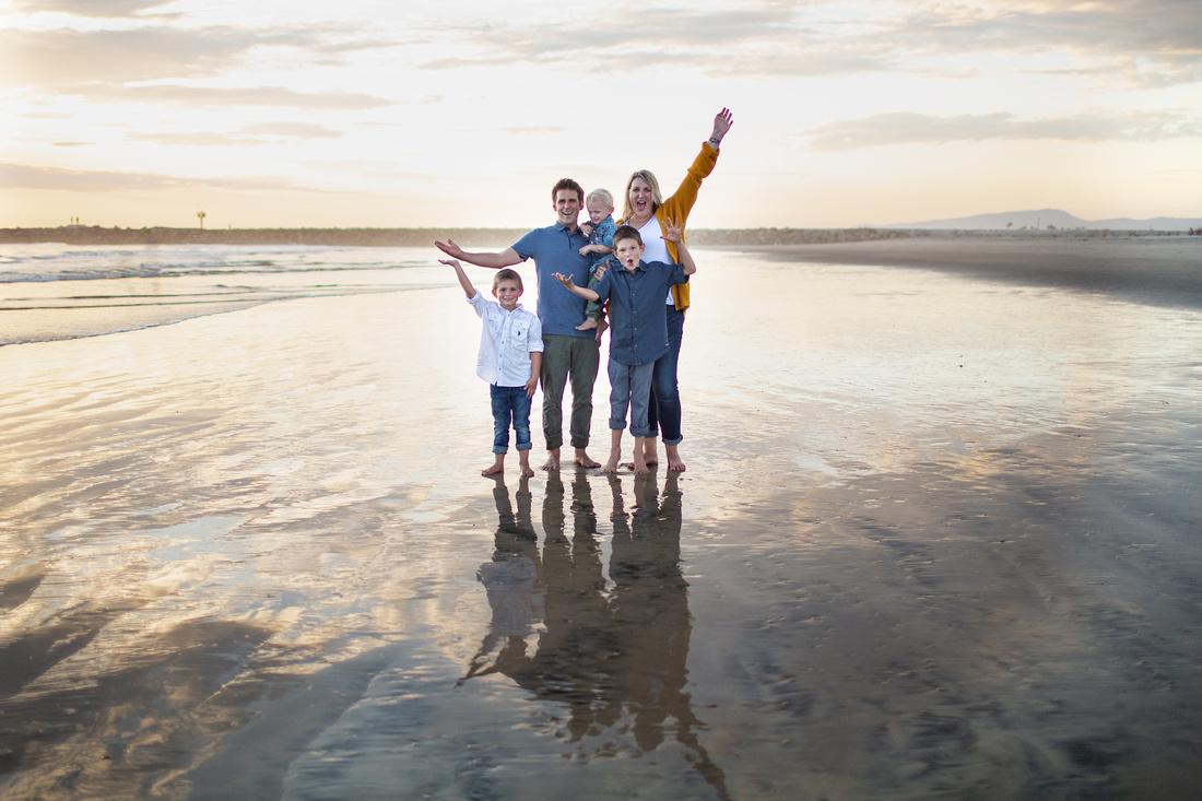 Erickson Family Oceanside Sunset Family Session At The Beach