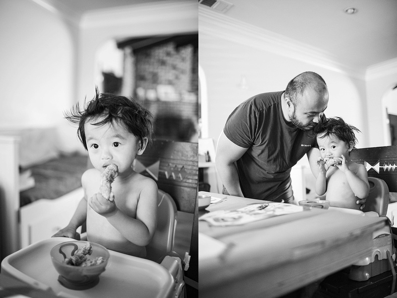 Black and white photos of toddler celebrating his 2nd birthday